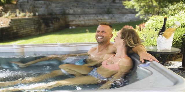nordic couple in spa